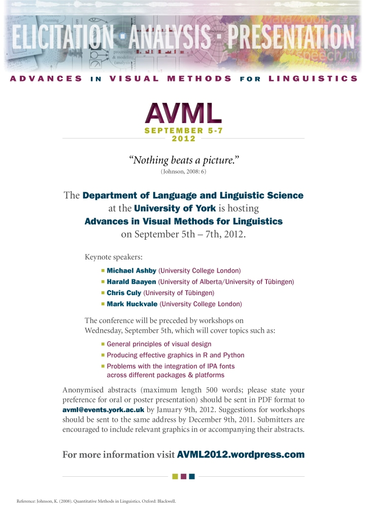 Please email us at avml@events.york.ac.uk with any questions or comments about AVML 2012